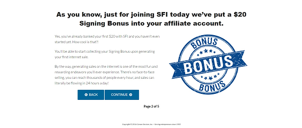 SFI after sign up 3