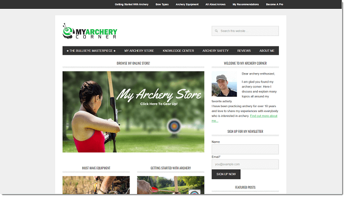 My Archery Corner Homepage