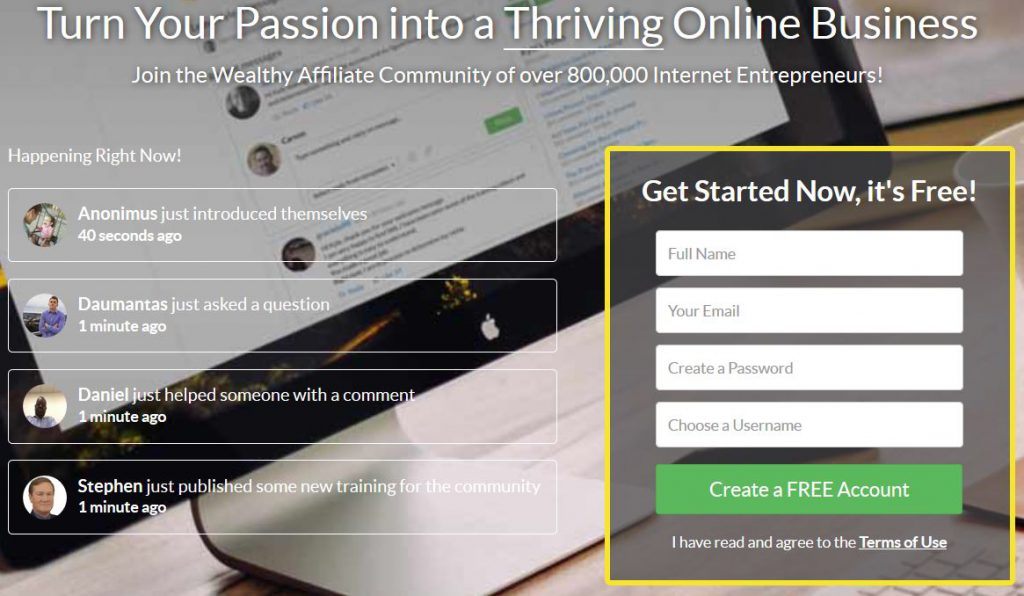 Sign Up For Wealthy Affiliate