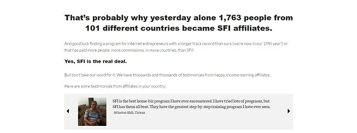 SFI after sign up 2