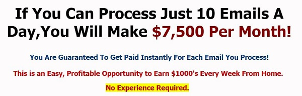 email processing home business fake promises
