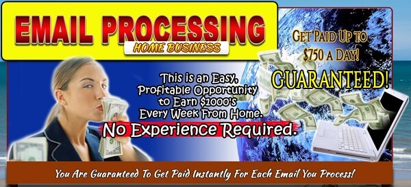 email processing home business scam