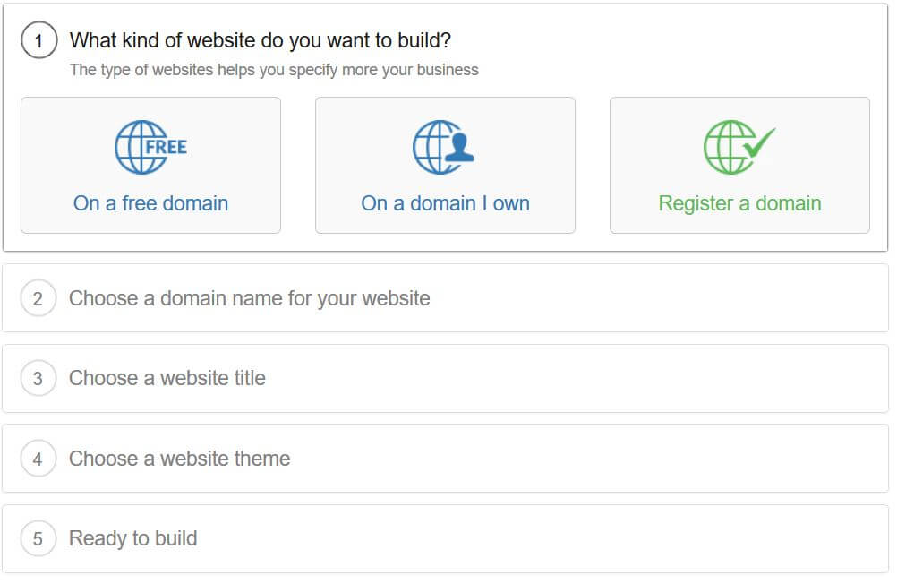 how to make a free website 3 choices